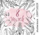 8 march. international womens... | Shutterstock .eps vector #1309710229