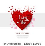 i love you concept design with... | Shutterstock .eps vector #1309711993