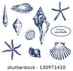 Set Of Various Hand Drawn Sea...