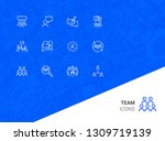 team icons. set of line icons.... | Shutterstock .eps vector #1309719139