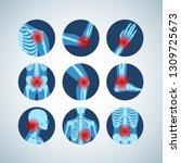 rheumatism or rheumatic... | Shutterstock .eps vector #1309725673