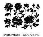 spring flowers hand drawn... | Shutterstock .eps vector #1309726243