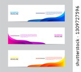 abstract web banner collection. ... | Shutterstock .eps vector #1309727596