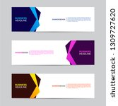 corporate banner collection... | Shutterstock .eps vector #1309727620