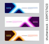 corporate banner collection... | Shutterstock .eps vector #1309727623