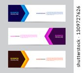 corporate banner collection... | Shutterstock .eps vector #1309727626