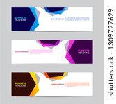 corporate banner collection... | Shutterstock .eps vector #1309727629