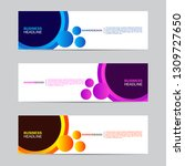 abstract web banner collection. ... | Shutterstock .eps vector #1309727650