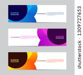 abstract web banner collection. ... | Shutterstock .eps vector #1309727653