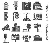 city design elements icons set... | Shutterstock .eps vector #1309743580