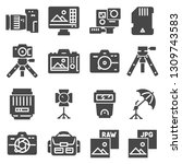 photography icons set. digital... | Shutterstock .eps vector #1309743583