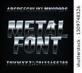 metal alphabet font. chrome...   Shutterstock .eps vector #1309748326