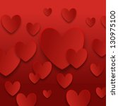 valentine day hearts background | Shutterstock . vector #130975100