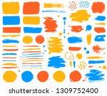paint brush strokes and... | Shutterstock .eps vector #1309752400
