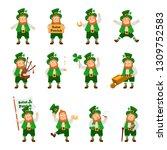 set of funny irish fantastic... | Shutterstock .eps vector #1309752583