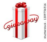 giveaway advertisement banner... | Shutterstock .eps vector #1309756516