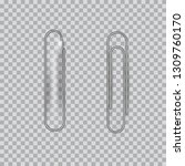 metal paper clips on... | Shutterstock .eps vector #1309760170