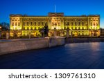 buckingham palace in the... | Shutterstock . vector #1309761310