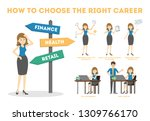 how to choose career guide.... | Shutterstock .eps vector #1309766170