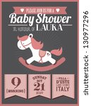 baby shower invitation card... | Shutterstock .eps vector #130977296