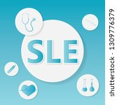 sle  systemic lupus... | Shutterstock .eps vector #1309776379