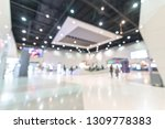exhibition event hall blur... | Shutterstock . vector #1309778383