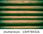 wooden painted rustic wall of... | Shutterstock . vector #1309784326