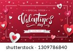 special offer for valentine's... | Shutterstock .eps vector #1309786840