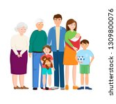 isolated object of relatives... | Shutterstock .eps vector #1309800076