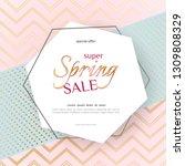 poster spring sale elegant... | Shutterstock .eps vector #1309808329