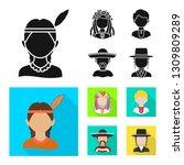 vector illustration of imitator ... | Shutterstock .eps vector #1309809289