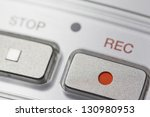 macro view of a button on the... | Shutterstock . vector #130980953