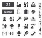 glamour icon set. collection of ... | Shutterstock .eps vector #1309810306