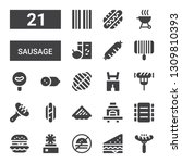 sausage icon set. collection of ... | Shutterstock .eps vector #1309810393