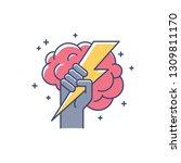 brainstorming creative idea... | Shutterstock .eps vector #1309811170