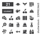 gourmet icon set. collection of ... | Shutterstock .eps vector #1309813663