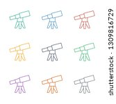 telescope icon white background.... | Shutterstock .eps vector #1309816729