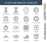 minute icons. trendy 16 minute... | Shutterstock .eps vector #1309817053