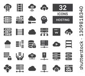 hosting icon set. collection of ... | Shutterstock .eps vector #1309818340