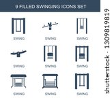 swinging icons. trendy 9... | Shutterstock .eps vector #1309819819