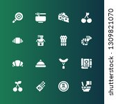 gourmet icon set. collection of ... | Shutterstock .eps vector #1309821070