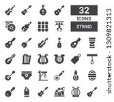 String Icon Set. Collection Of...