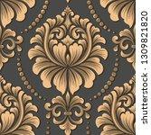 vector damask seamless pattern... | Shutterstock .eps vector #1309821820