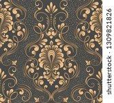 vector damask seamless pattern... | Shutterstock .eps vector #1309821826