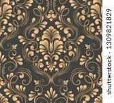 vector damask seamless pattern... | Shutterstock .eps vector #1309821829