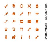 spoon icon set. collection of... | Shutterstock .eps vector #1309824106
