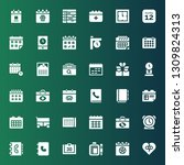 date icon set. collection of 36 ... | Shutterstock .eps vector #1309824313