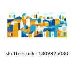 vector illustration in simple... | Shutterstock .eps vector #1309825030