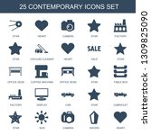 25 contemporary icons. trendy...   Shutterstock .eps vector #1309825090