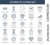 25 minute icons. trendy minute... | Shutterstock .eps vector #1309825180